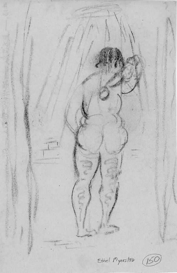 584px-150_Lady_With_Brush_In_Shower_-_Ethel_Myers