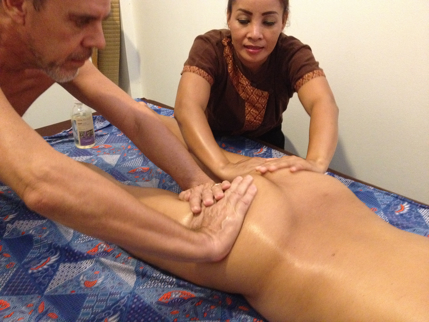 Nude massage course at Barefeet