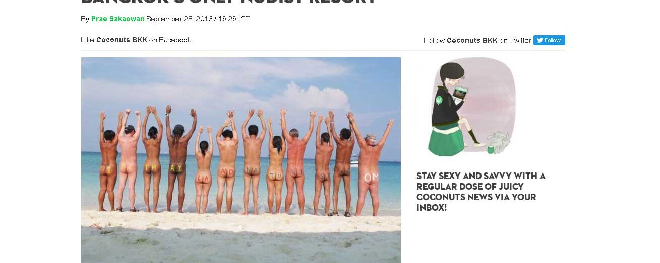 Coconuts Bangkok: Bare it all with owners of Bangkok's only nudist resort