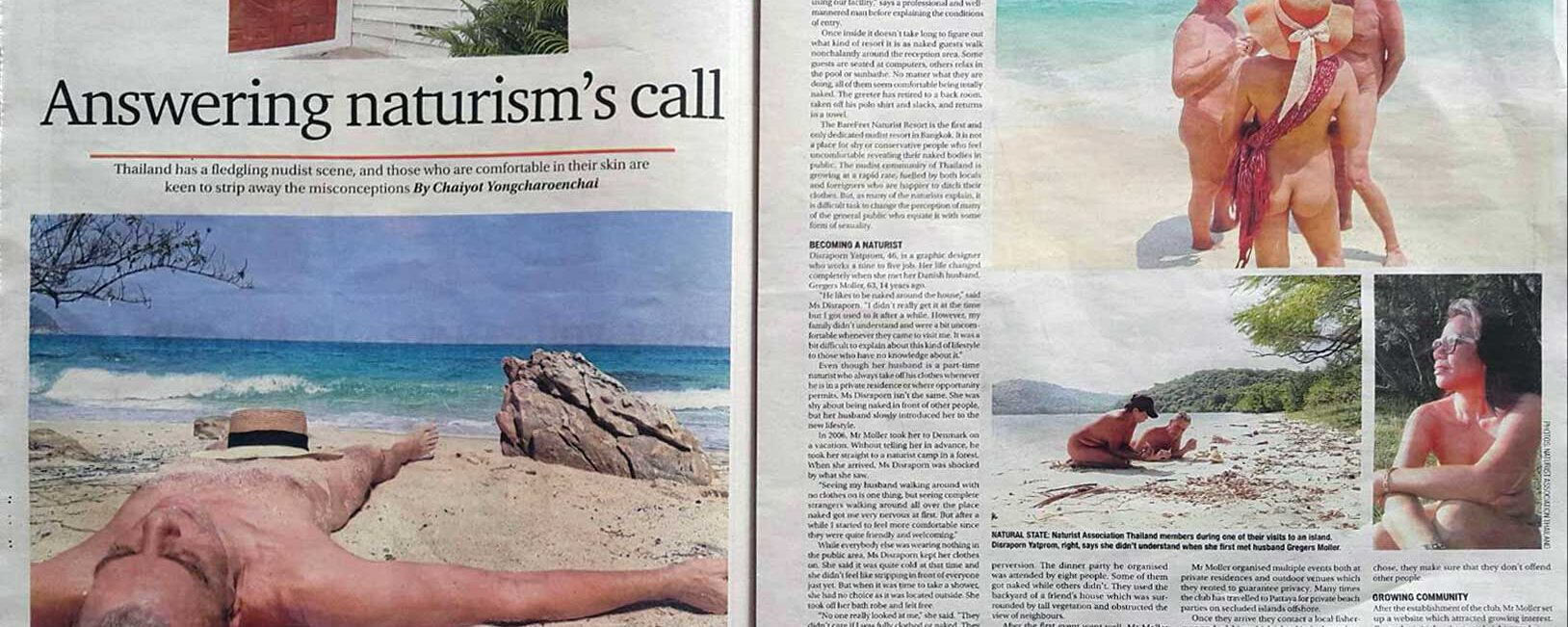 Bangkok Post prints special feature on naturism
